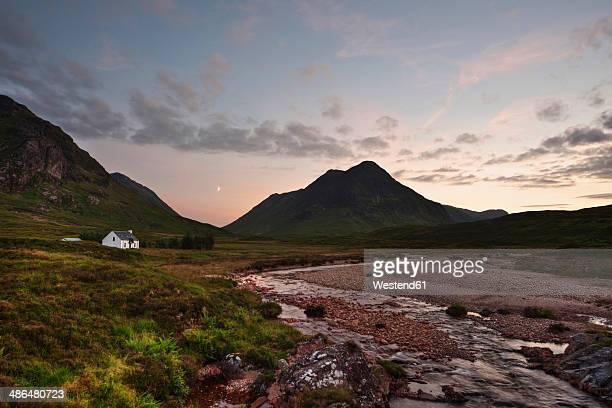 UK, Scotland, Glen Coe, view to Buachaille Etive Mor