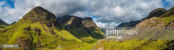 Schottland Glen Coe dramatischen Berggipfeln panorama legendären Highland Glen