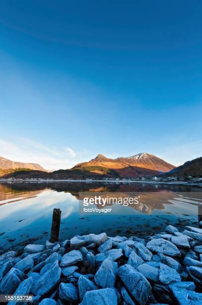Scotland Glencoe Loch Leven winter frost Highland mountains