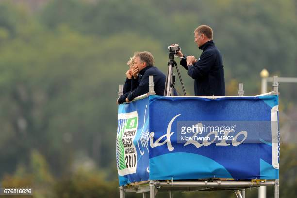 Scotland head coach Gary Parker watches over the game