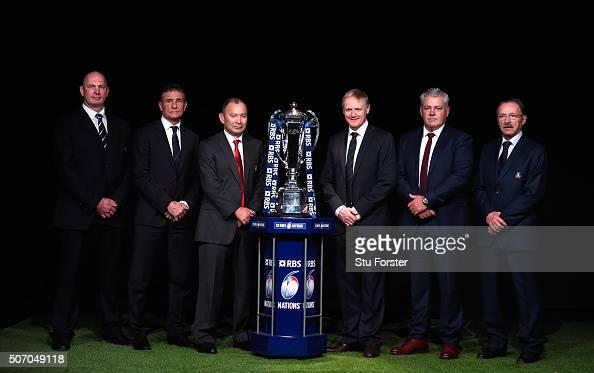 Scotland head coach Vern Cotter France head coach Guy Noves England head coach Eddie Jones Ireland head coach Joe Schmidt Wales head coach Warren...