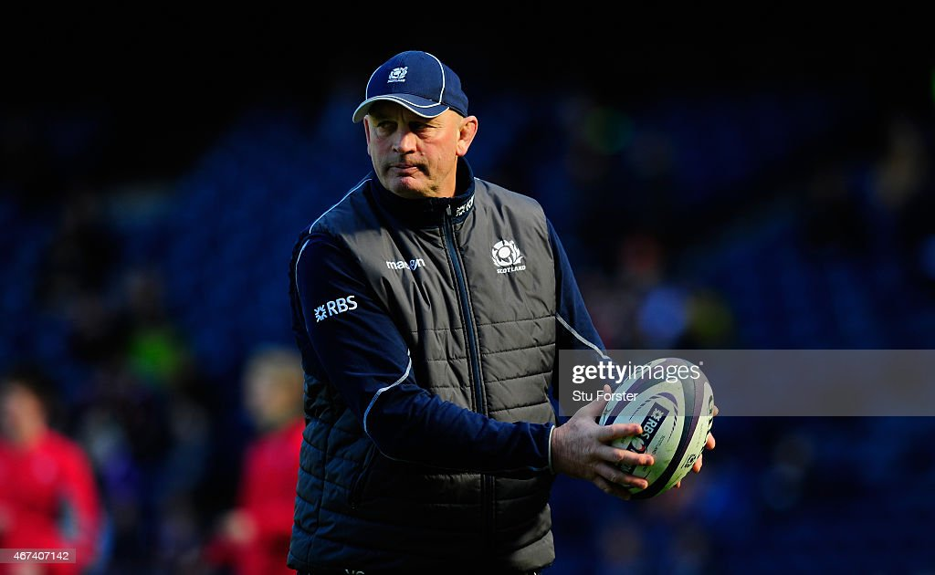 Scotland head coach <a gi-track='captionPersonalityLinkClicked' href=/galleries/search?phrase=Vern+Cotter&family=editorial&specificpeople=611983 ng-click='$event.stopPropagation()'>Vern Cotter</a> looks on before the RBS Six Nations match between Scotland and Ireland at Murrayfield Stadium on March 21, 2015 in Edinburgh, Scotland.
