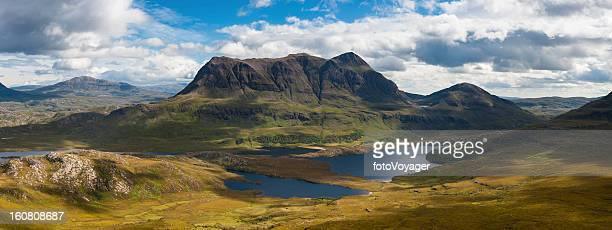 Scotland Highland mountain wilderness dramatic landscape panorama