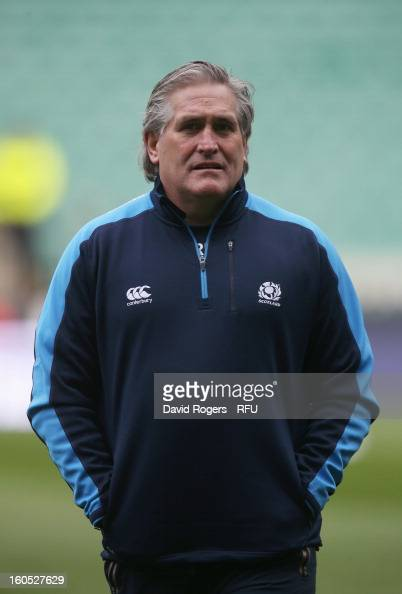 Scotland interim head coach Scott Johnson looks on prior to the RBS Six Nations match between England and Scotland at Twickenham Stadium on February...