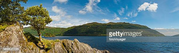 Schottland Loch Lomond mountain forest shore panorama