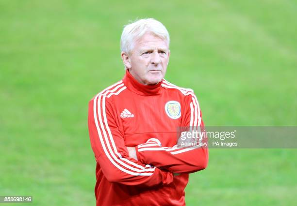 Scotland manager Gordon Strachan during a training session at Stadion Stozice Ljubljana