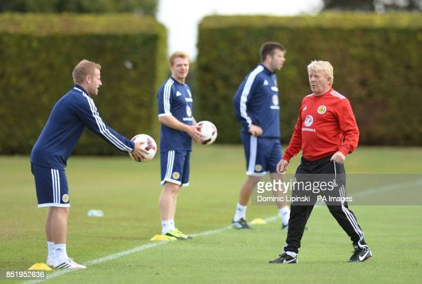 Scotland Manager Gordon Strachan during a training session at Watford Academy St Albans