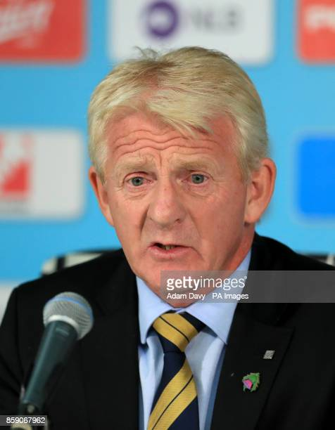 Scotland manager Gordon Strachan during his post match press conference after the 2018 FIFA World Cup Qualifying Group F match at Stadion Stozice...