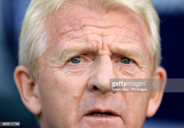 Scotland manager Gordon Strachan during the 2018 FIFA World Cup Qualifying Group F match at Stadion Stozice Ljubljana