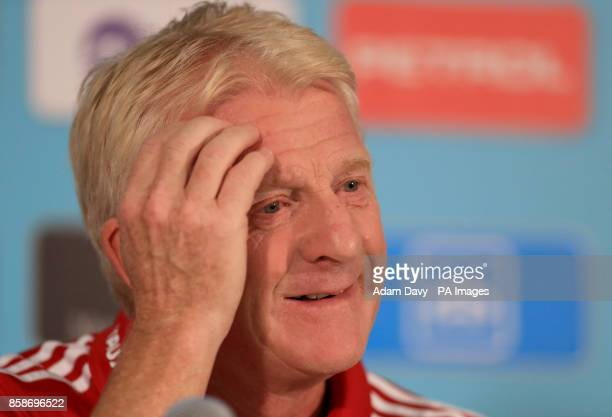 Scotland manager Gordon Strachan during the press conference at Stadion Stozice Ljubljana