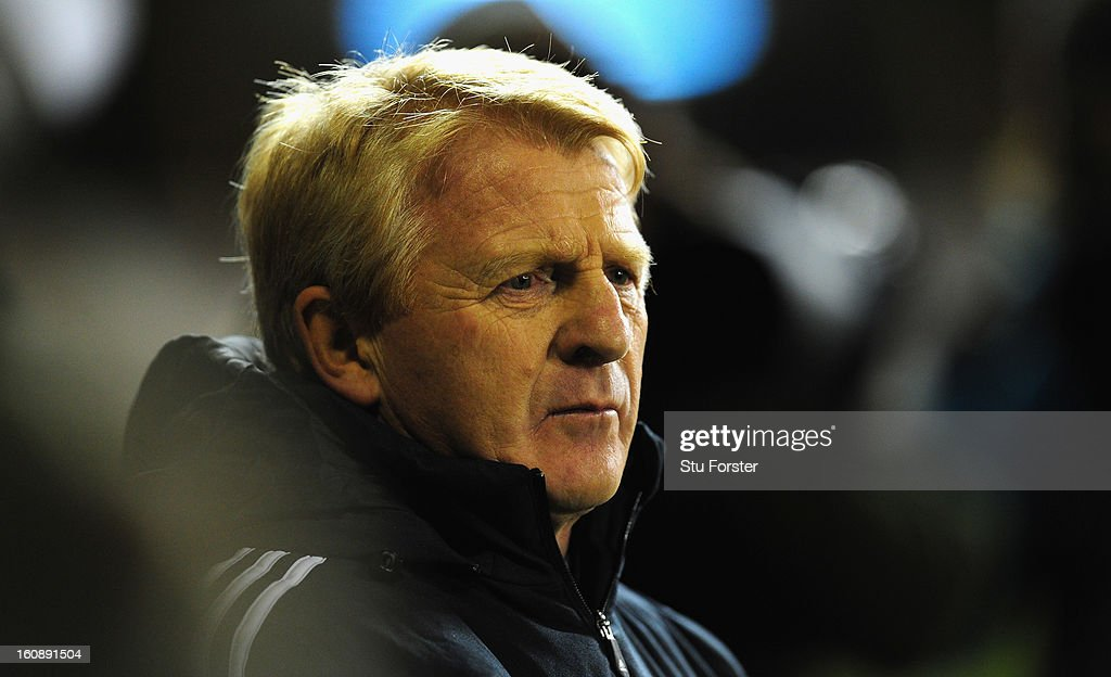 Scotland manager Gordon Strachan looks on during the International Friendly match between Scotland and Estonia at Pittodrie Stadium on February 6, 2013 in Aberdeen, Scotland.