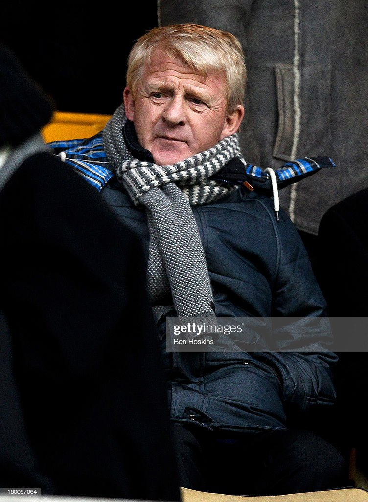 Scotland manager <a gi-track='captionPersonalityLinkClicked' href=/galleries/search?phrase=Gordon+Strachan&family=editorial&specificpeople=243133 ng-click='$event.stopPropagation()'>Gordon Strachan</a> looks on prior to the npower Championship match between Wolverhampton Wanderers and Blackpool at Molineux on January 24, 2013 in Wolverhampton, England.