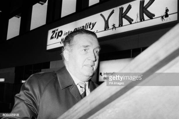 Scotland Manager Jock Stein boards a flight to Madrid to witness the World Cup draw