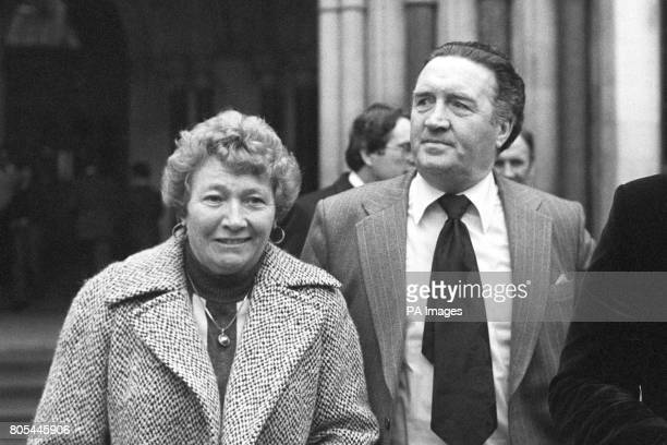 Scotland Manager Jock Stein with Mrs Elsie Revie at the High Court to give evidence for Mr Revie in his legal battle with the FA Don Revie asked Mr...
