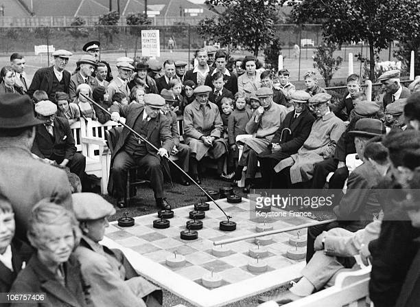 Scotland Monifieth Open Air Giant Draughts Board In 1936