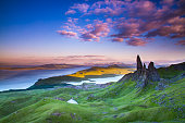 Spectacular landscape and incredible rock formations  The Old Man of Storr Isle of Skye Scotland