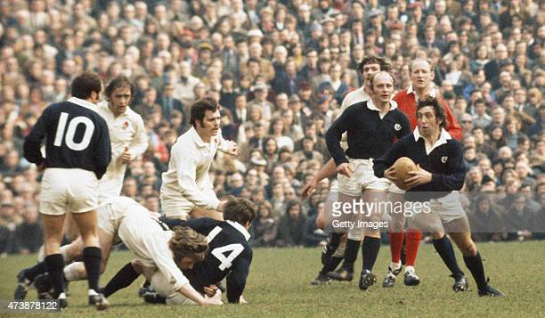 Scotland player Ian McGeechan in action during the 1973 Five Nations Calcutta Cup match between England and Scotland at Twickenham on March 17 1973...