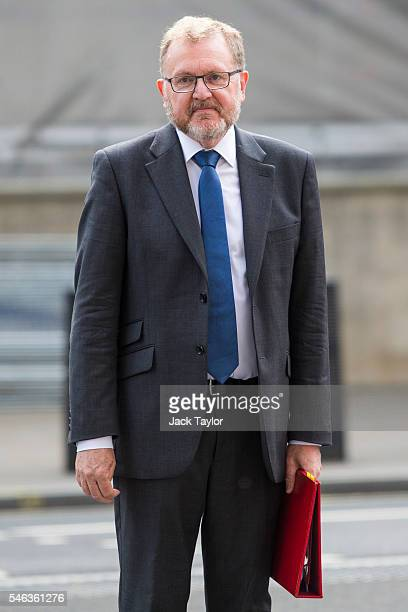 Scotland Secretary David Mundell arrives for David Cameron's final cabinet meeting as Prime Minister at Downing Street on July 12 2016 in London...