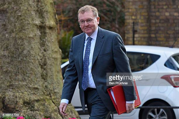 Scotland Secretary David Mundell arrives for the weekly cabinet meeting chaired by British Prime Minister David Cameron at Number 10 Downing Street...