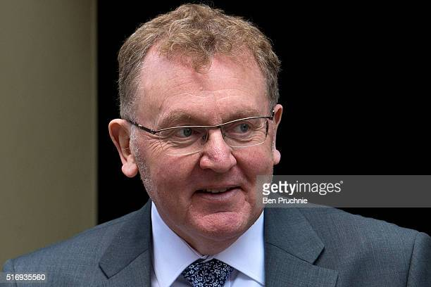 Scotland Secretary David Mundell departs after the weekly cabinet meeting chaired by British Prime Minister David Cameron at Number 10 Downing Street...