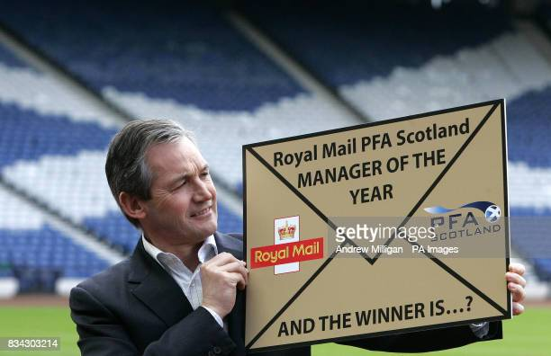 Scotland team boss George Burley launches the Royal Mail PFA Scotland award for Scotland's Manager of The Year 2008 at Hampden Park Glasgow