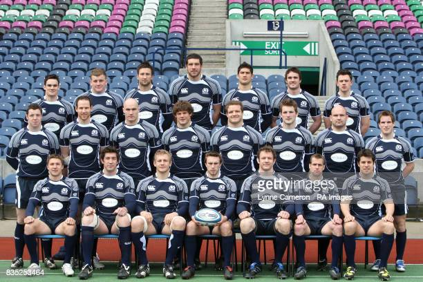 Max Evans Moray Low Simon Danielli Jim Hamilton Scott Gray Thom Evans Nick De Luca Middle row Alasdair Dickinson Graeme Morrison Alasdair Strokosch...