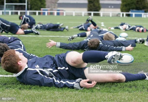 Scotland under 19 rugby training at Murrayfield