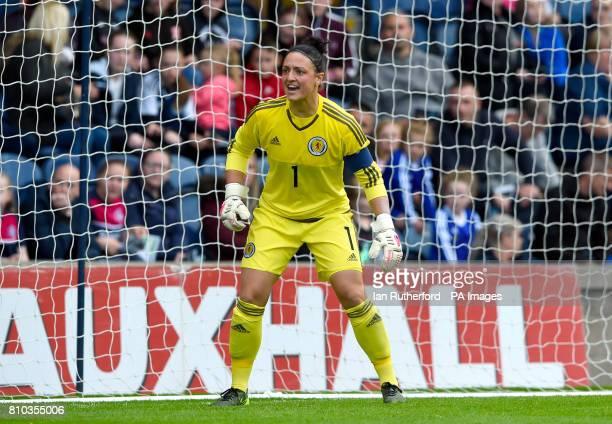 Scotland Women goalkeeper Gemma Fay in action during the International Challenge match at Stark's Park Kirkcaldy