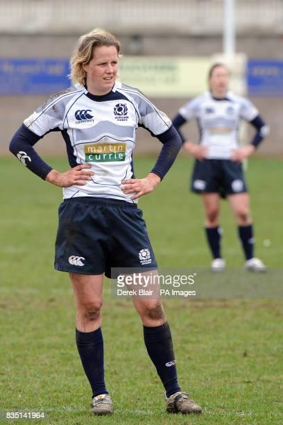 Scotland Women's Erin Kerr during the Womens 6 Nations Championship match at Meggetland Edinburgh