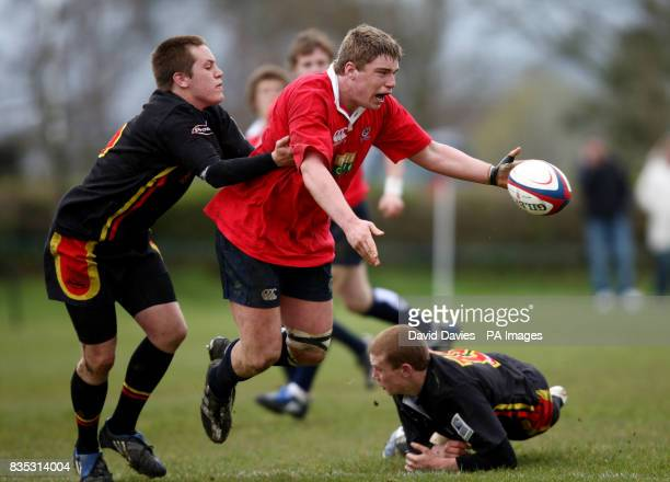 Scotland's Alex Allan looks for support during the Millfield International Festival match at Millfield Stadium Somerset