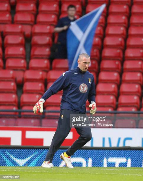 Scotland's Allan McGregor before the World Cup Qualifying match at Hampden Park Glasgow