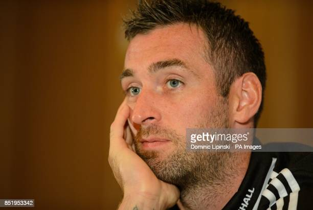Scotland's Allan McGregor during a press conference at Sopwell House Hotel St Albans