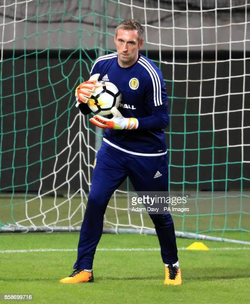 Scotland's Allan McGregor during a training session at Stadion Stozice Ljubljana