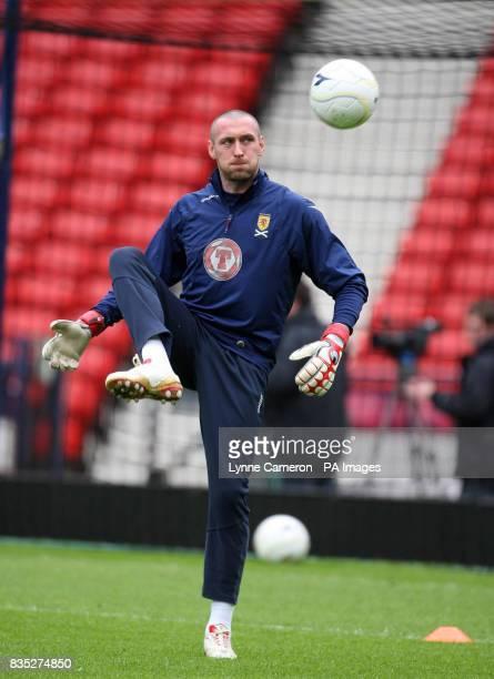 Scotland's Allan McGregor during the Training Session at Hampden Park Glasgow