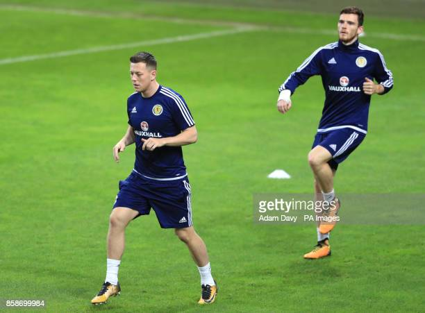 Scotland's Callum McGregor during a training session at Stadion Stozice Ljubljana