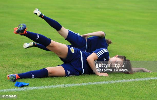 Scotland's Caroline Weir during a training session at VV Woudenberg Woudenberg