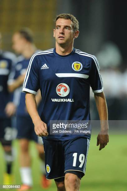 Scotland's Craig Bryson warms up before the FIFA World Cup Qualifying match at the Phillip II Arena Skopje Macedonia