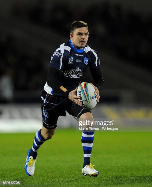 Scotland's Danny Brough in action against USA during the the 2013 World Cup match at Salford City Stadium Salford