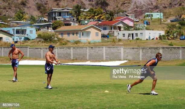 Scotland's Dewald Nel during a training session at the Conaree Ground Conaree District Basseterre St Kitts