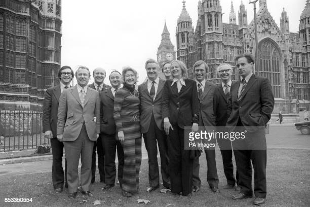 Scotland's eleven Nationalist Members of Parliament after the State Opening of Parliament in Westminster Andrew Welsh Douglas Henderson Ian McCormick...