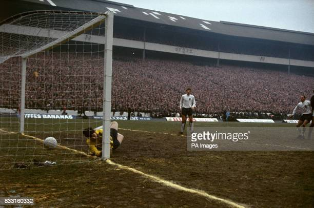 Scotland's equalising goal scored by John Hughes Pictured are England's Gordon Banks Keith Newton and Ray Wilson