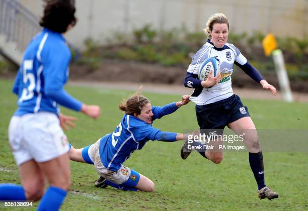 Scotland's Erin Kerr in action during the Womens 6 Nations Championship match at Meggetland Edinburgh