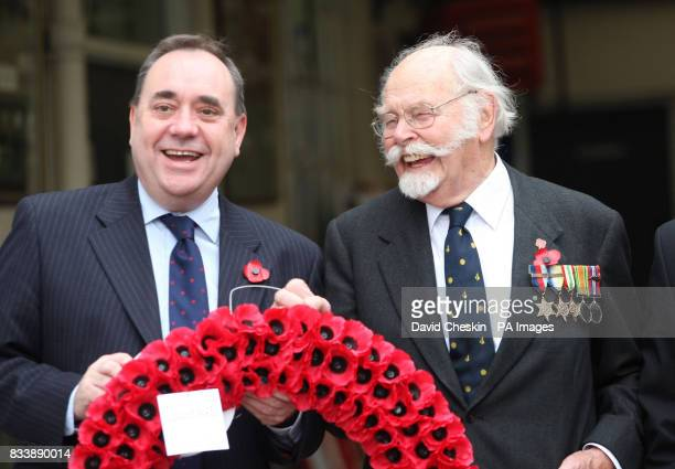 Scotland's First Minister Alex Salmond and 92yearold retired Wing Commander Roger Morewood launch the Scottish Poppy Appeal for 2007 at Lady Haig's...