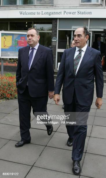 Scotland's First Minister Alex Salmond with Ignacio Galan chief executive and Chairman of Iberdrola during his first official engagement as First...
