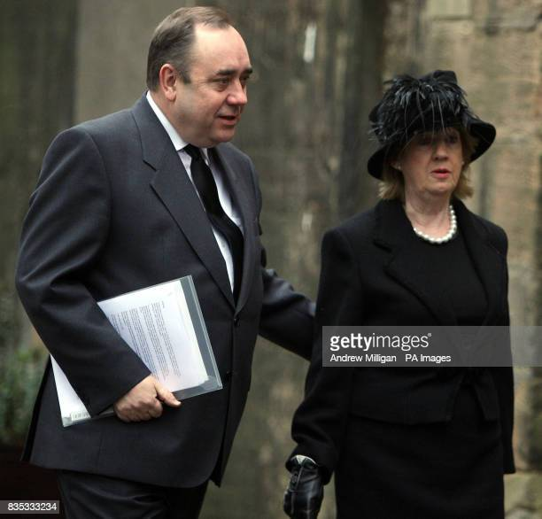 Scotland's First Minister Alex Salmond with wife Moira at the Service of Thanksgiving for prominent SNP figure Sir Neil MacCormick at Greyfriars Kirk...