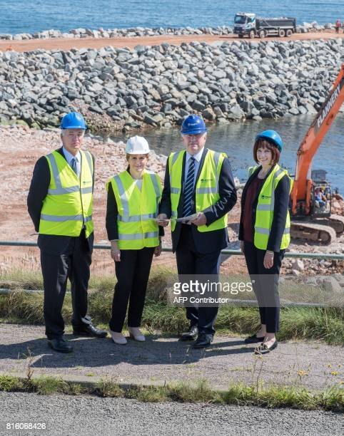 Scotland's First Minister and Scottish National Party leader Nicola Sturgeon Chief Executive of Aberdeen Harbour Colin Parker Chairman of Aberdeen...