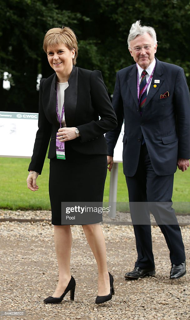 Scotland's First Minister <a gi-track='captionPersonalityLinkClicked' href=/galleries/search?phrase=Nicola+Sturgeon&family=editorial&specificpeople=2582617 ng-click='$event.stopPropagation()'>Nicola Sturgeon</a> arrives for the 100th anniversary of the beginning of the Battle of the Somme at the Thiepval memorial to the Missing on July 1, 2016 in Thiepval, France. The event is part of the Commemoration of the Centenary of the Battle of the Somme at the Commonwealth War Graves Commission Thiepval Memorial in Thiepval, France, where 70,000 British and Commonwealth soldiers with no known grave are commemorated.
