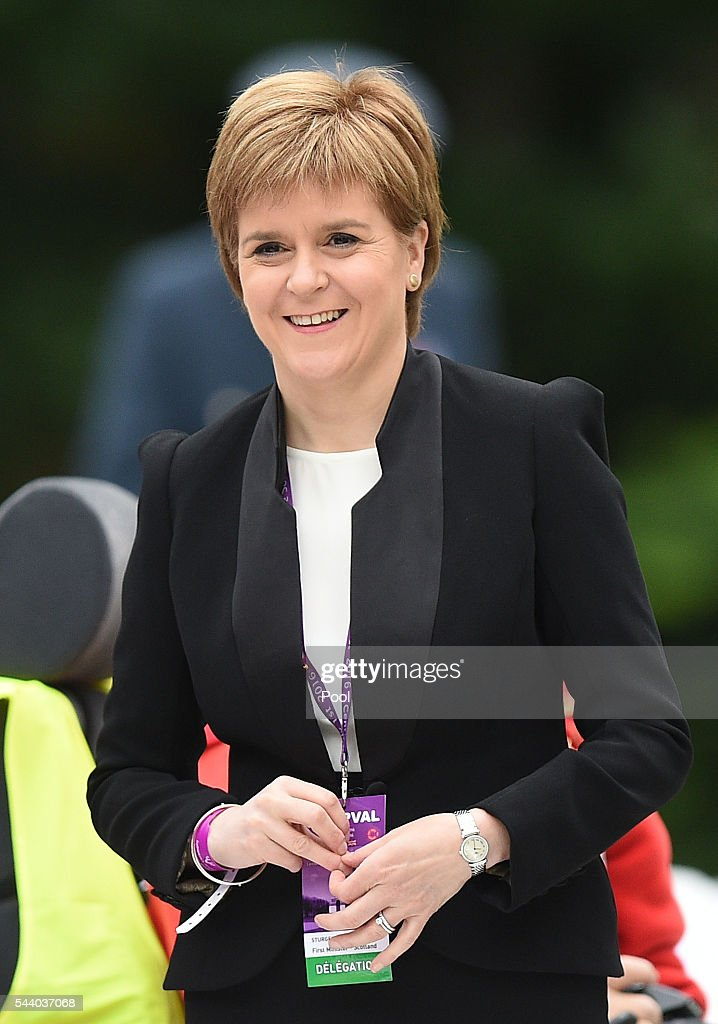 Scotland's First Minister <a gi-track='captionPersonalityLinkClicked' href=/galleries/search?phrase=Nicola+Sturgeon&family=editorial&specificpeople=2582617 ng-click='$event.stopPropagation()'>Nicola Sturgeon</a> smiles as she waits to take her seat at the Commemoration of the Centenary of the Battle of the Somme at the Commonwealth War Graves Commission Thiepval Memorial on July 1, 2016 in Thiepval, France. The event is part of the Commemoration of the Centenary of the Battle of the Somme at the Commonwealth War Graves Commission Thiepval Memorial in Thiepval, France, where 70,000 British and Commonwealth soldiers with no known grave are commemorated.