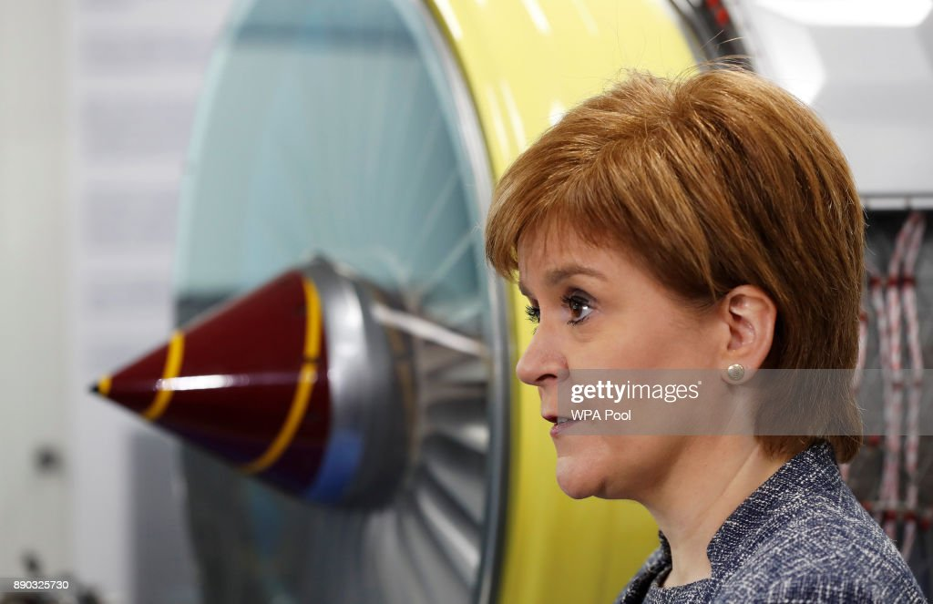 Scotland's First Minister Visits Rolls Royce Plant at Inchinnan