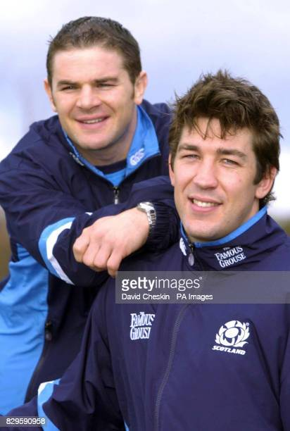 Scotland's Gordon Ross and Nathan Hines